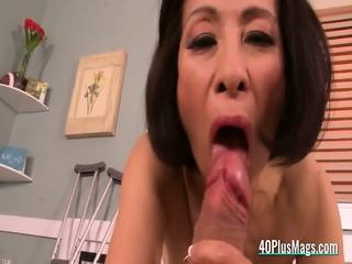 Mature Nurse Takes Patient s Cock