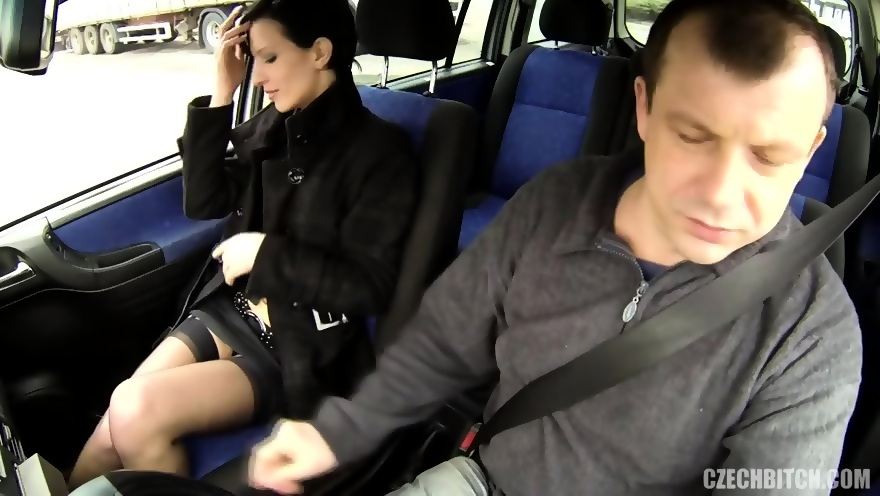 Hot hitchhiker amy fucks in a car young