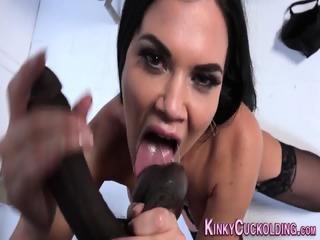 Busty slut cuckolds loser | xxx-video
