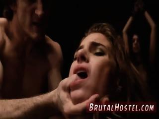 Big tits feet slave and bdsm bondage gangbang Two youthfull...