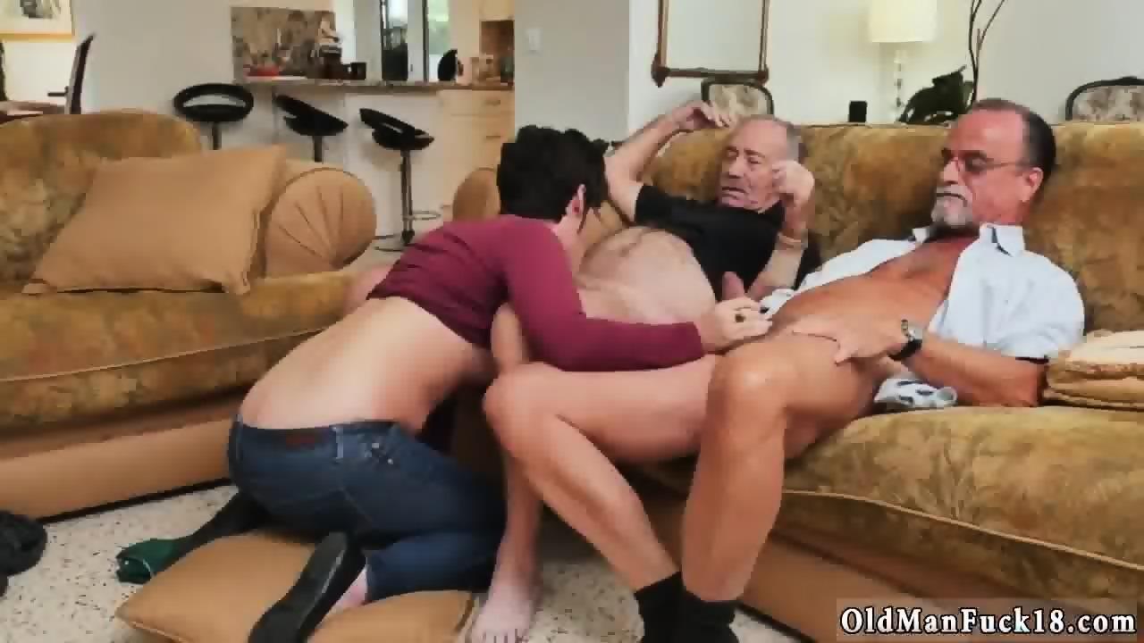 Man fucks two busty grannies video