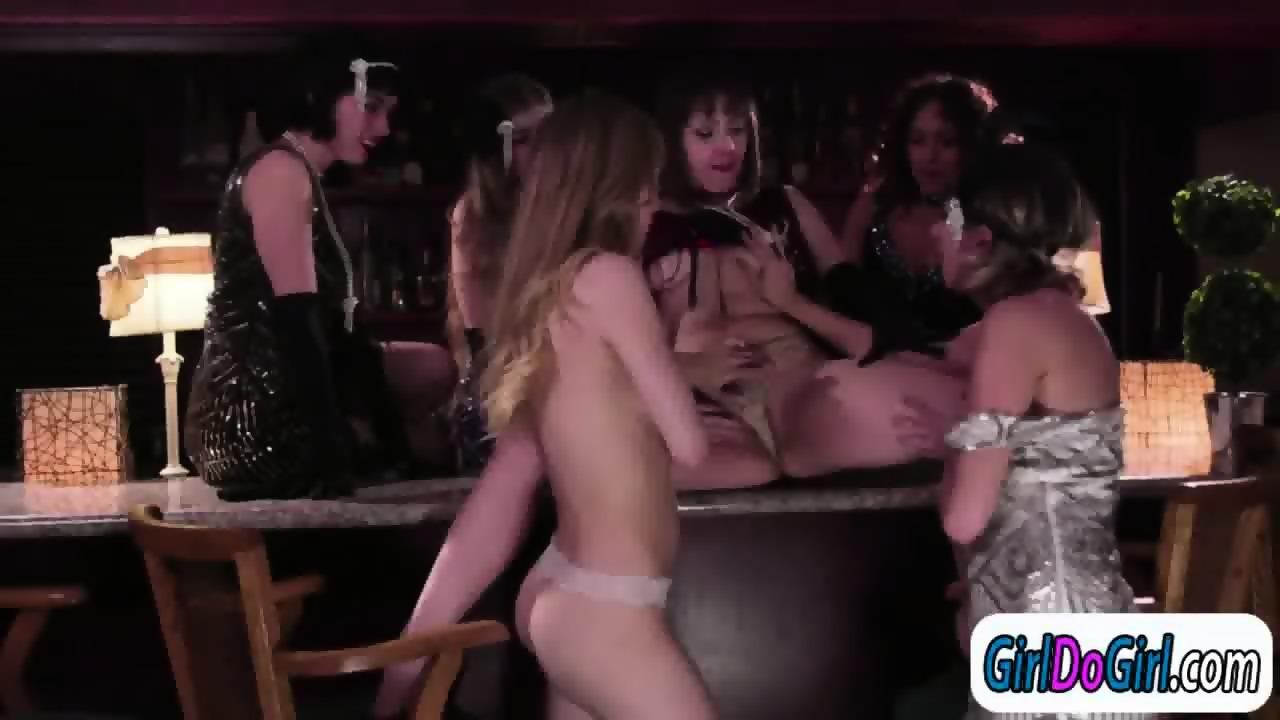 Lesbian kissing hard