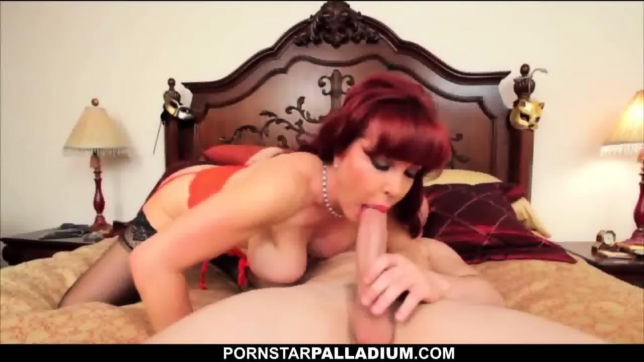 Busty redhead milf sucks and fucks