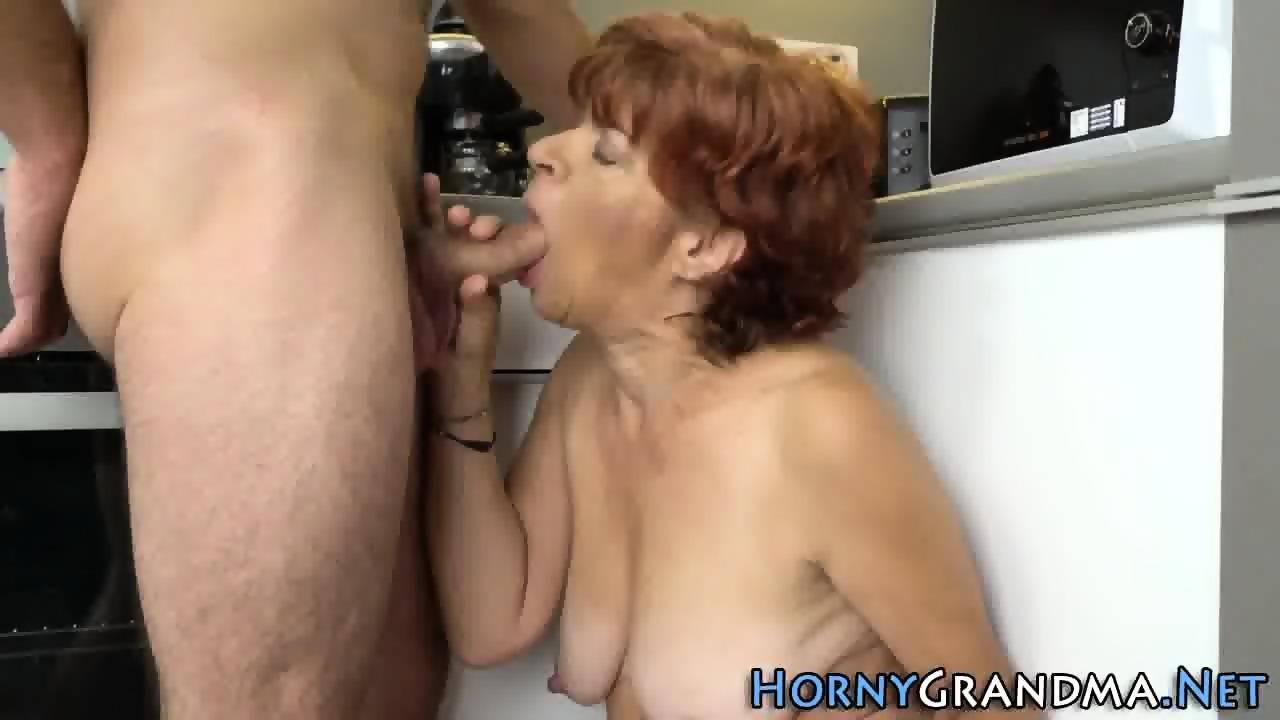 Cum soaked granny