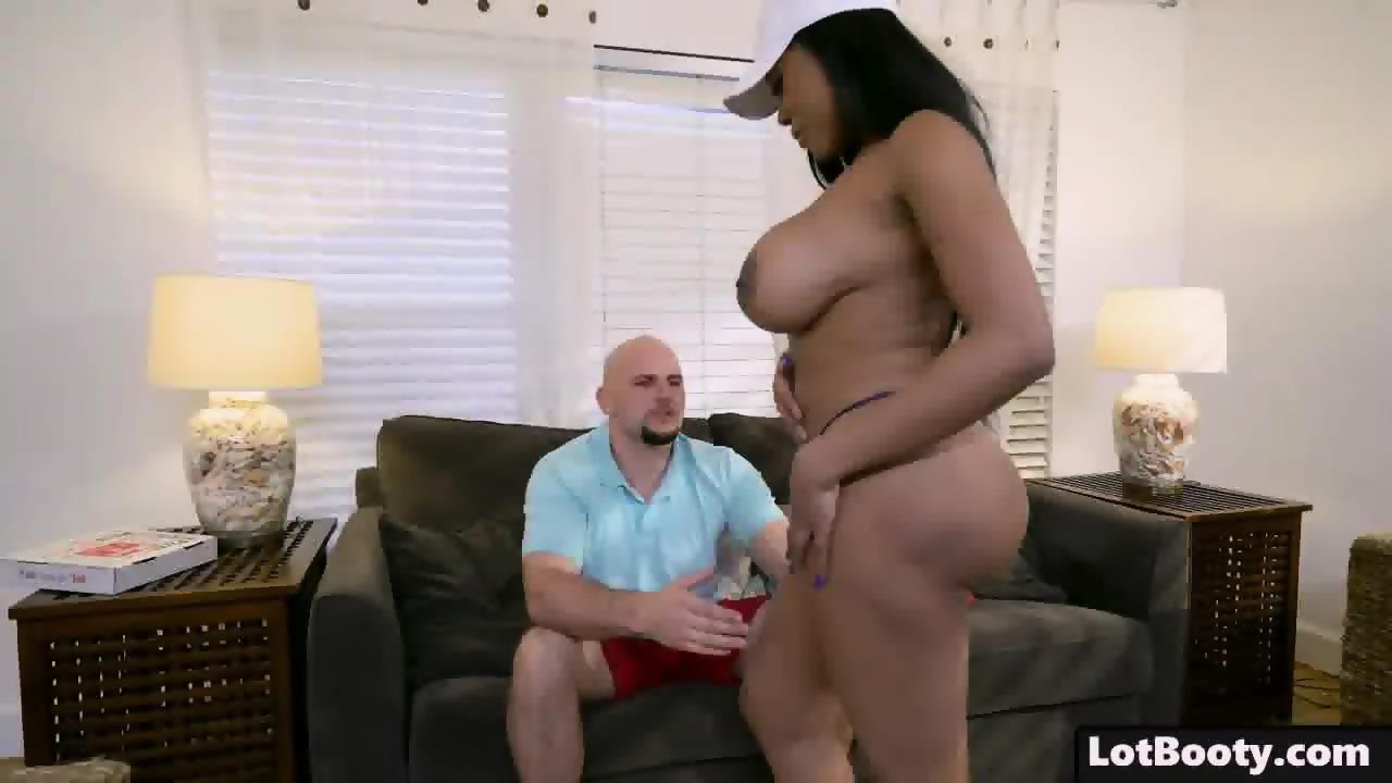 Ebony Milf Loves White Cock