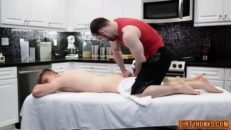 Muscle gay anal sex and massage