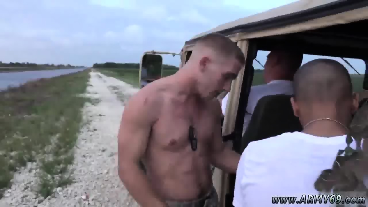 Muscled gay spreads a guys butt cheeks