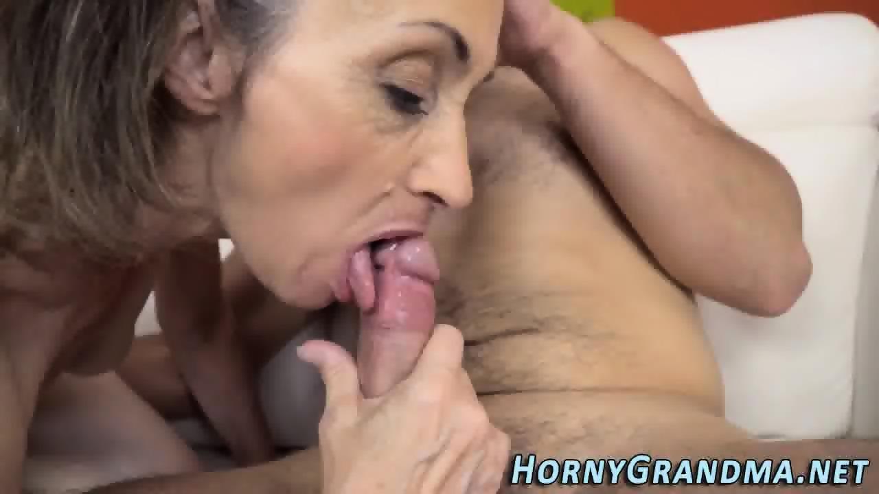 Gilf sucking cock