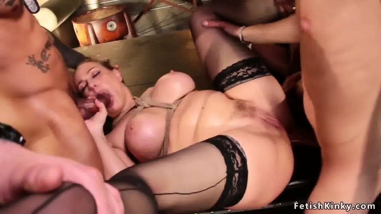 Huge Tits Gangbang