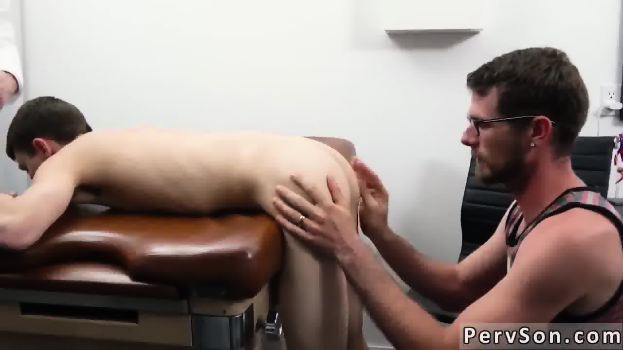 Handjob Gay doctor gives boy