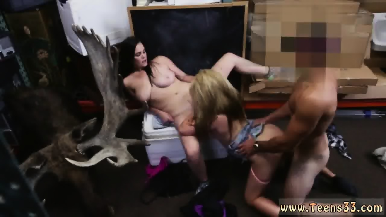Skinny brunette short hair and blonde handjob cumshot xxx Lesbians Pawn  Their Asses! - scene