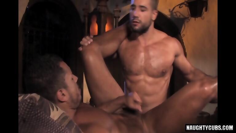 Arab Gay Threesome And Cumshot