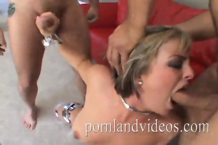 Blonde milf with 2 cocks