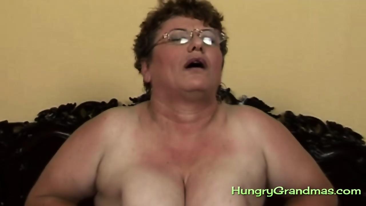 Fat granny with glasses found