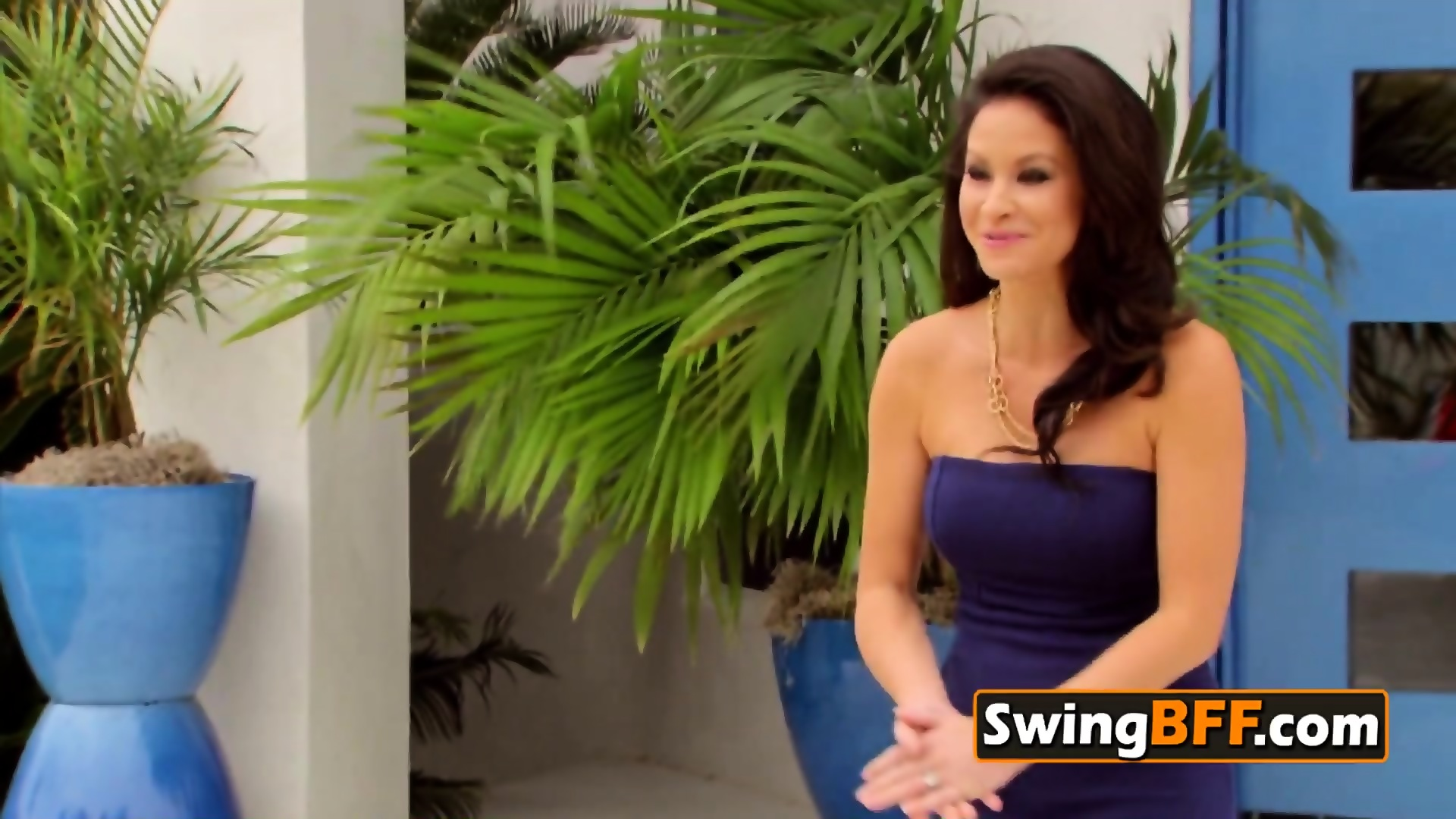 Swinger wife is open to everything including a full swap - scene 1