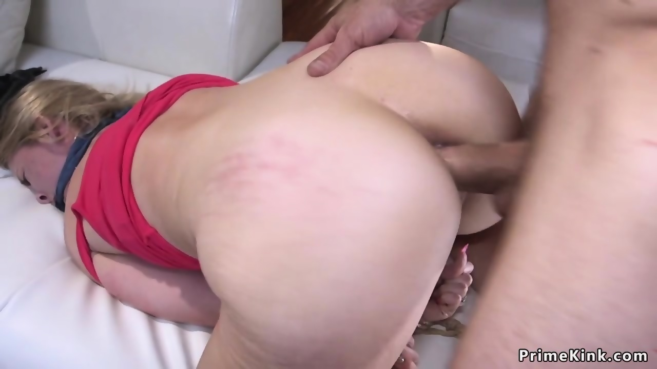 Tied up and anal fucked