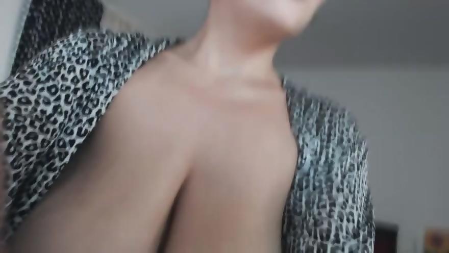 Giant dildo masturbation