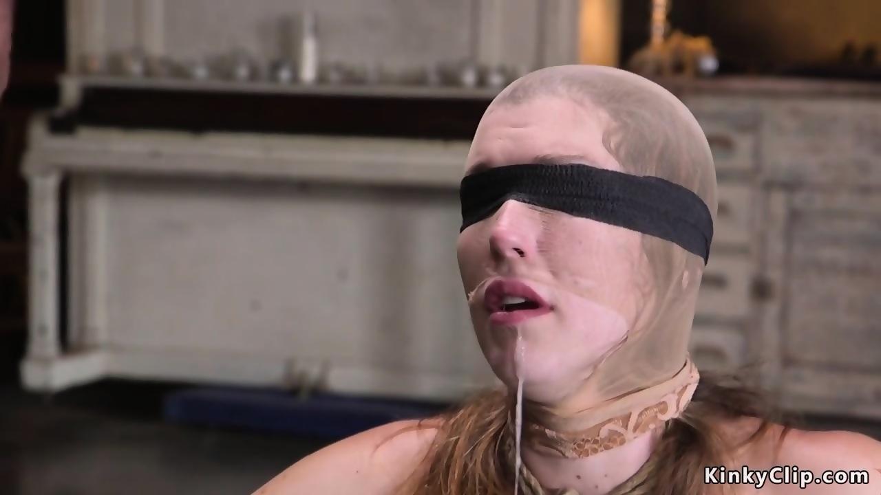 Slave mouth fucked through hose - scene 4