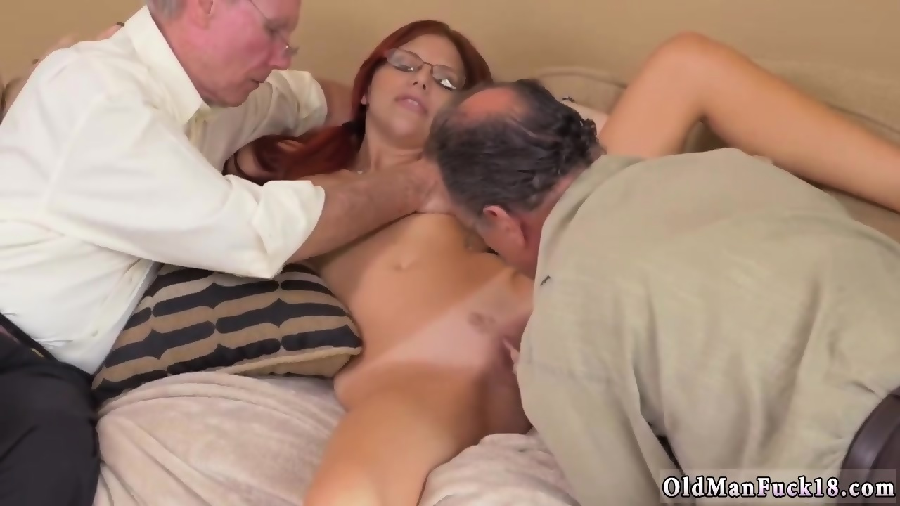 Old Man Threesome Creampie