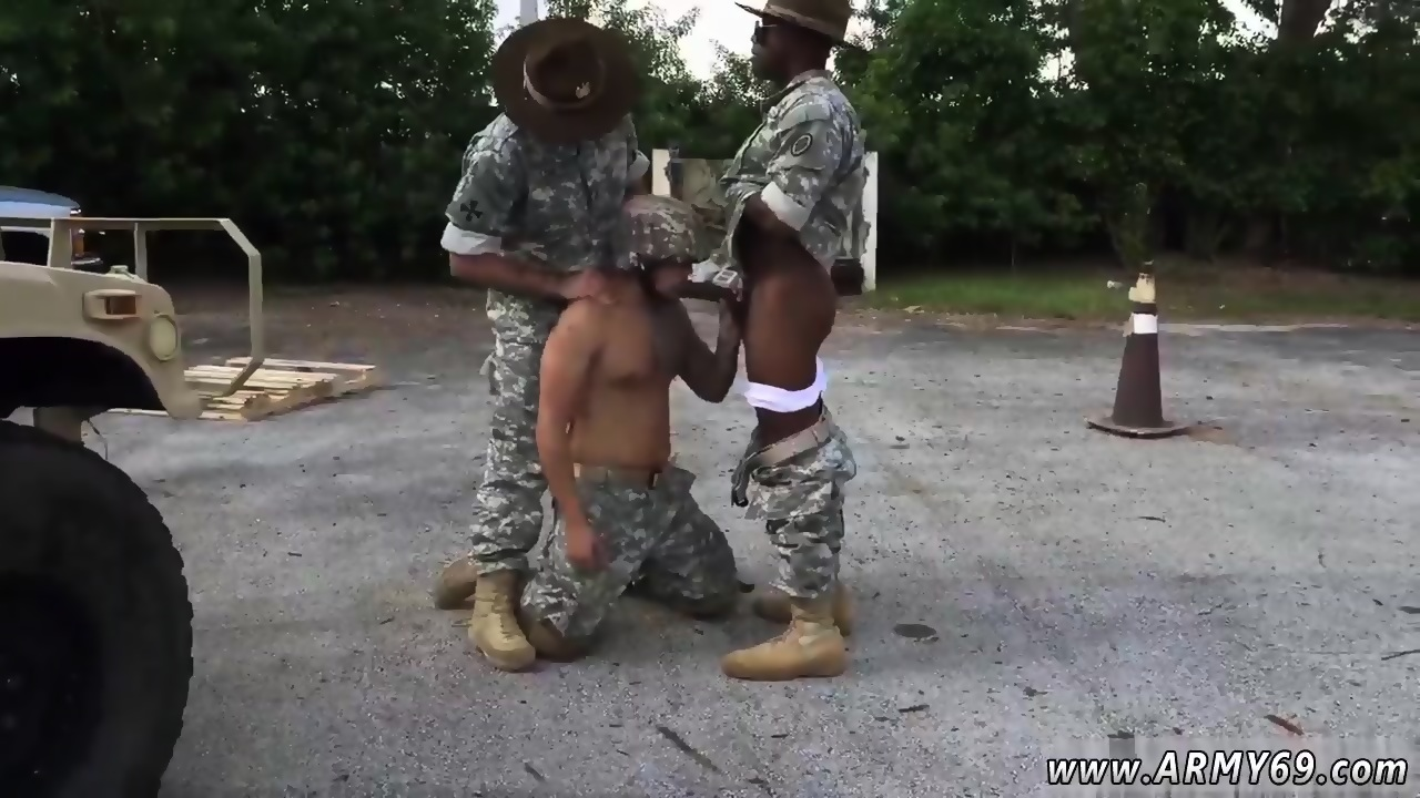 Horny guys in uniform sucking