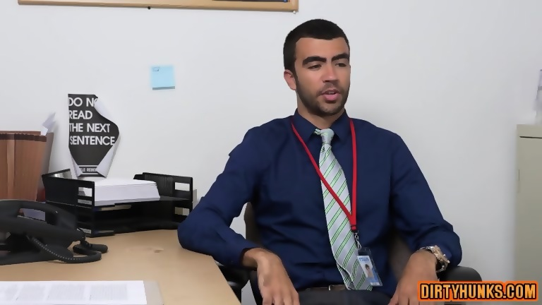 Muscle gay oral sex job and facial