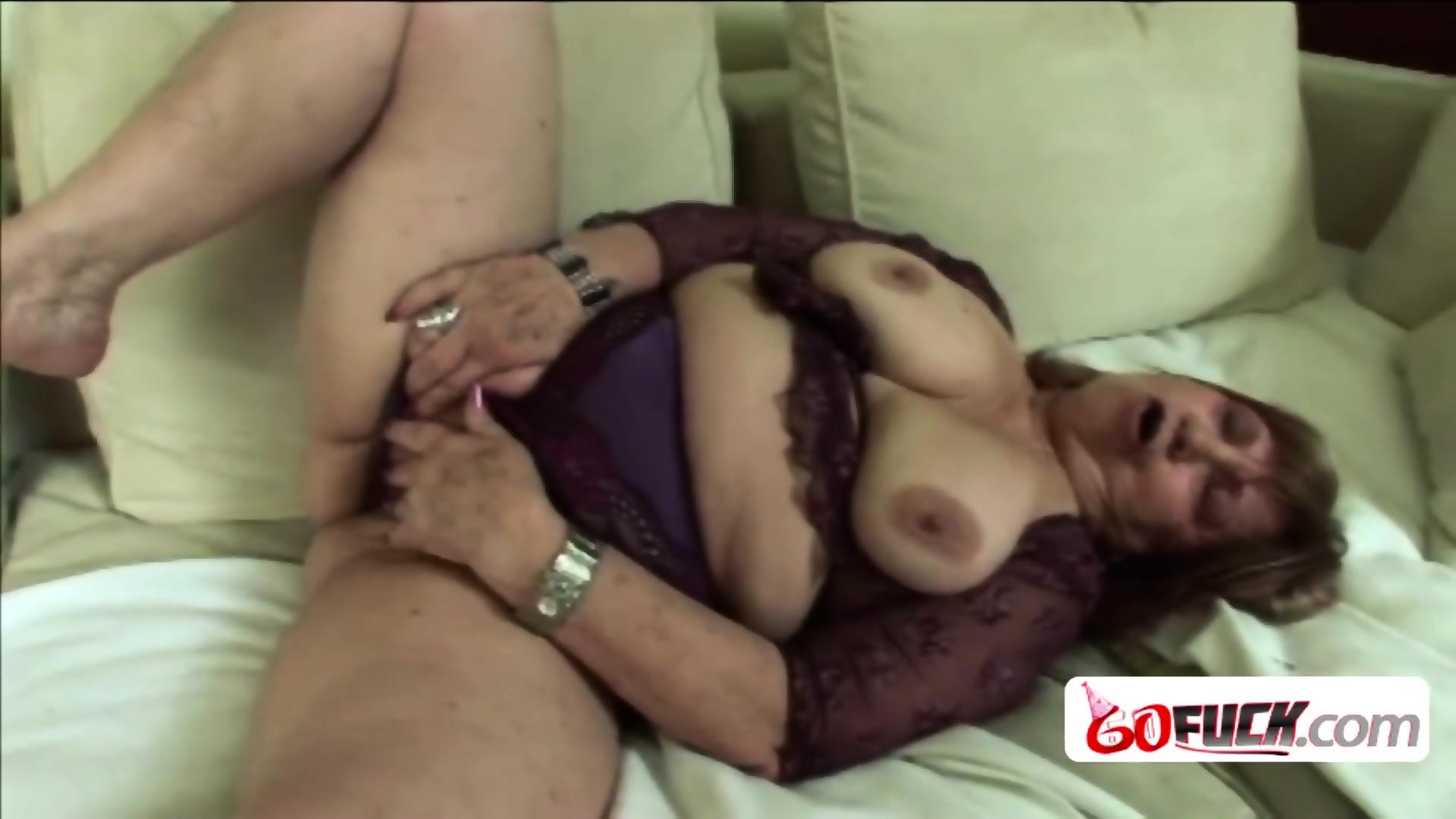 Sexy female blond orgasm