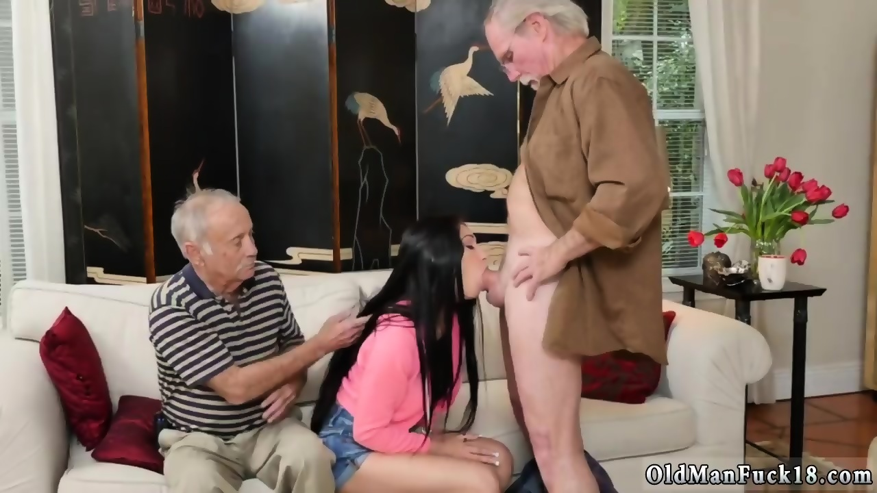 Two Teen Girls Fuck Old Man