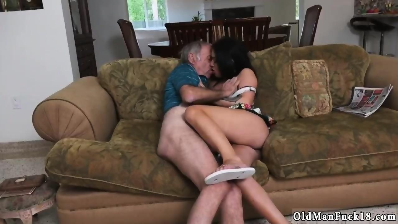 Old Man Masturbating Alone