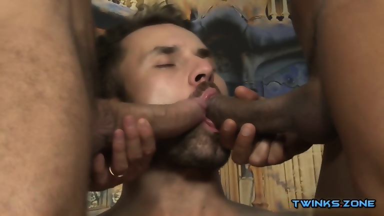 Latin son threesome with cumshot