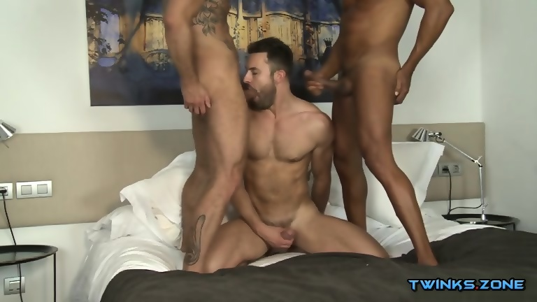 Latin son threesome with cumshot