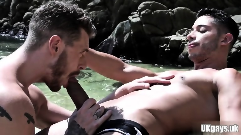 Latin gay anal sex with cum swap
