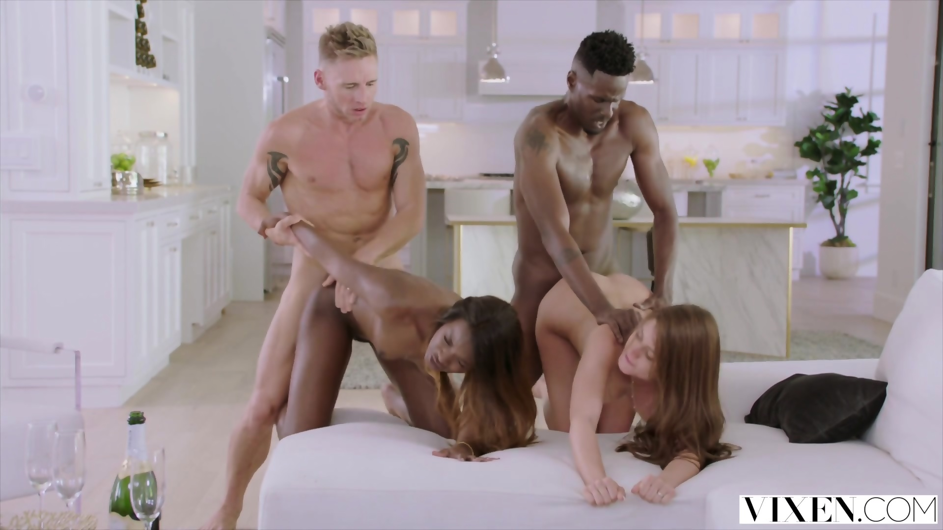 VIXEN Swinger Couple Have Hot Passionate Foursome - scene 12