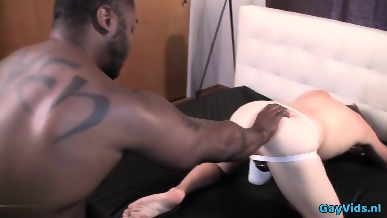 Hot jock anal fisting and cumshot
