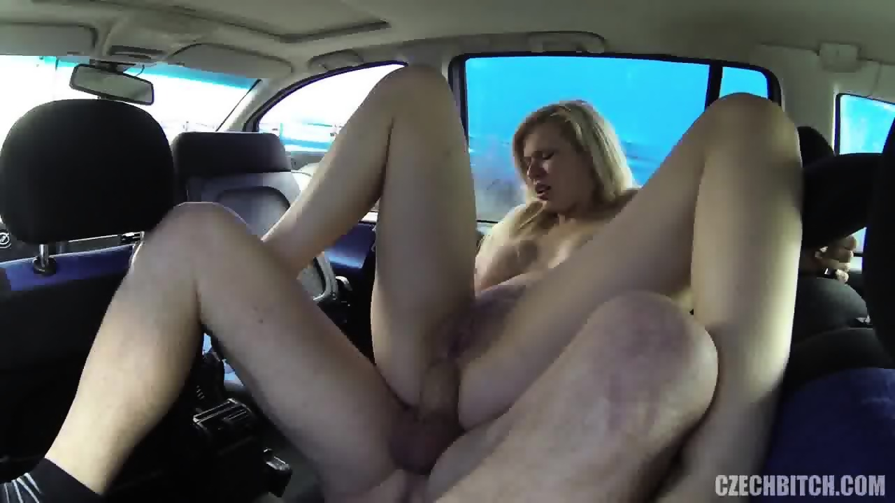Forced Blowjob In Car blonde bitch fucked in car