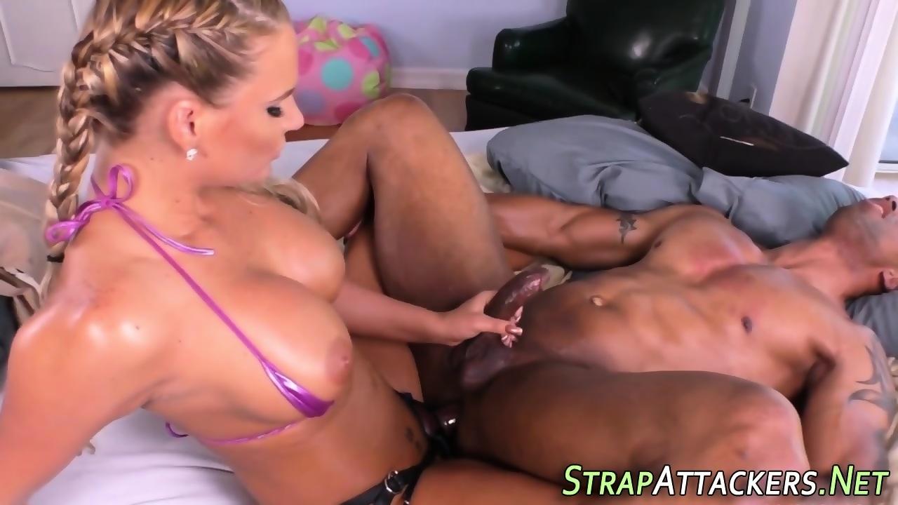 Domina pegs black ass - scene 7