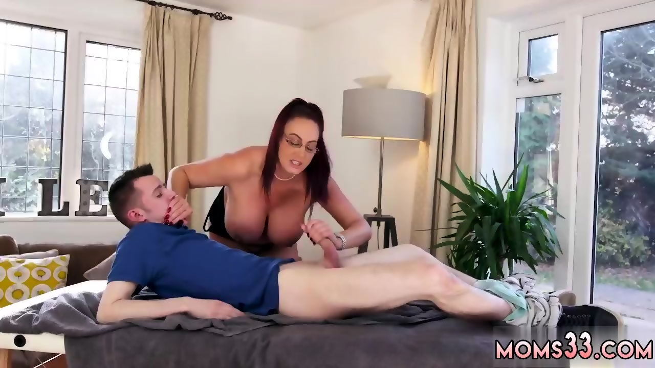 Big Tit Mom Jerks Off Son