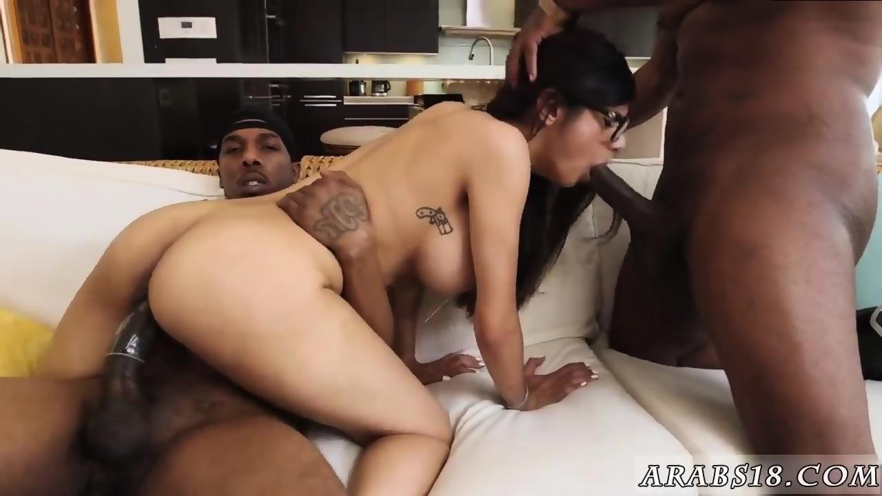 Brunette anal double