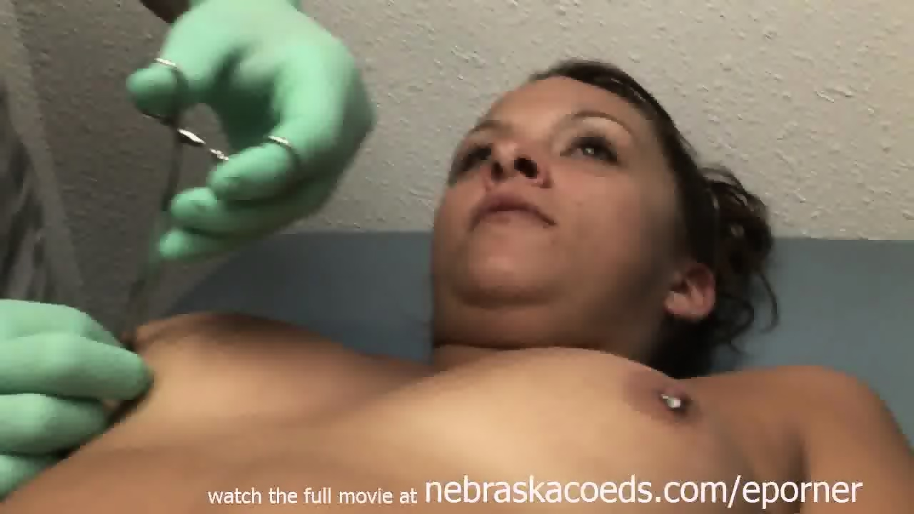 Hot Brunette College Girl Getting Her Nipples Pierced On Vacation - scene 11