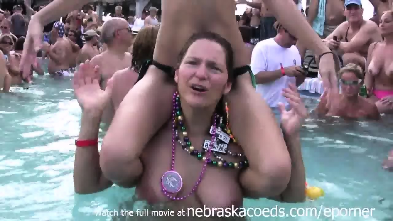 nude wife pool party