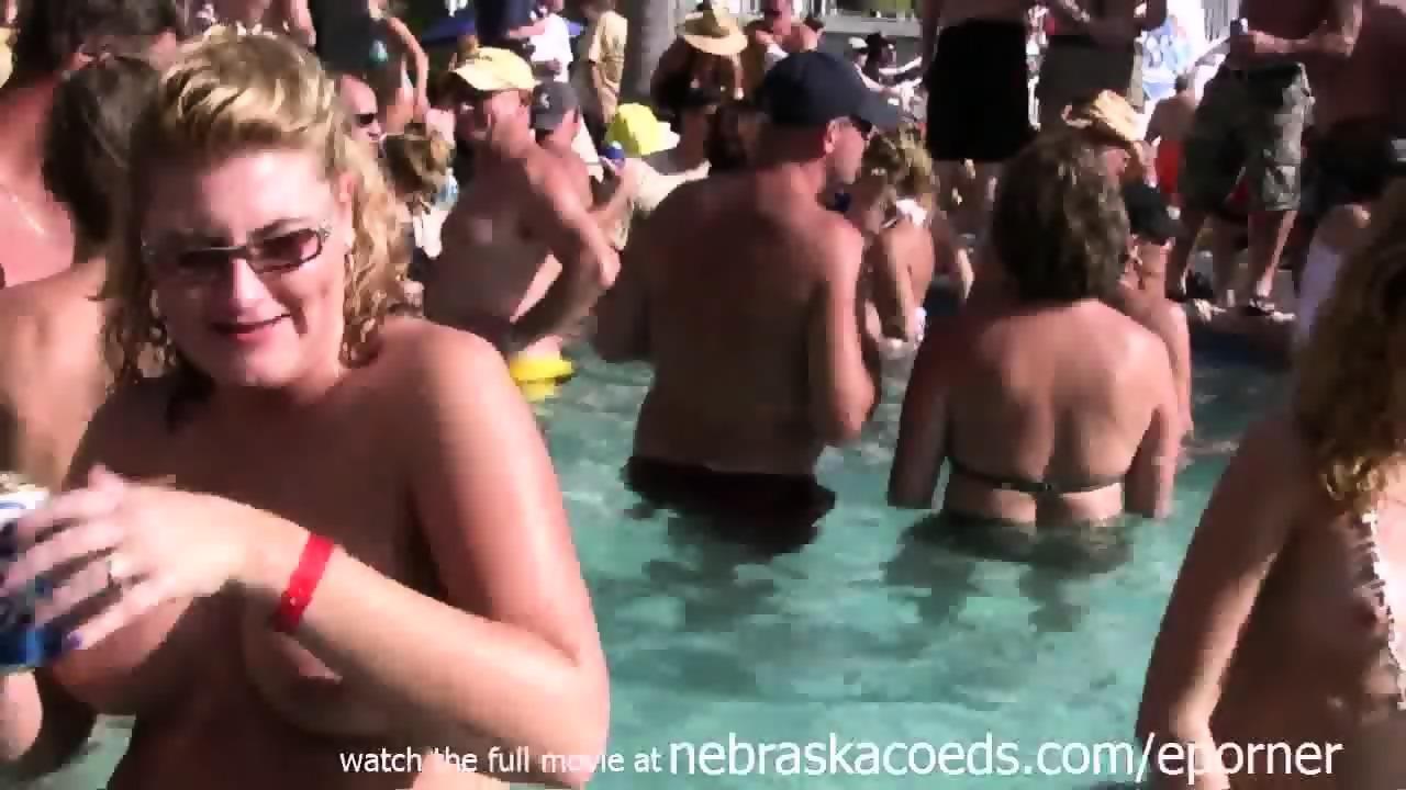 Something naked milf pool party