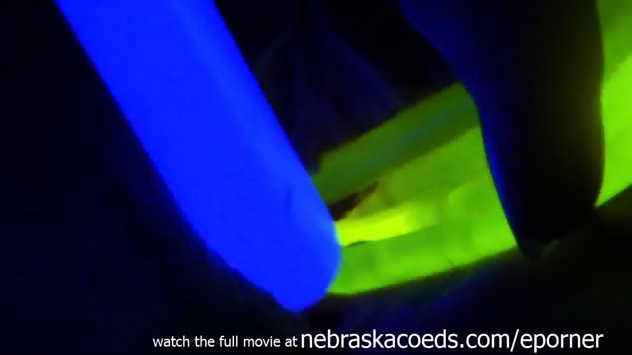 Young Raver Girl Glow Stick Pussy And Ass Insertion With Extreme Gaping  Closeups - scene 3