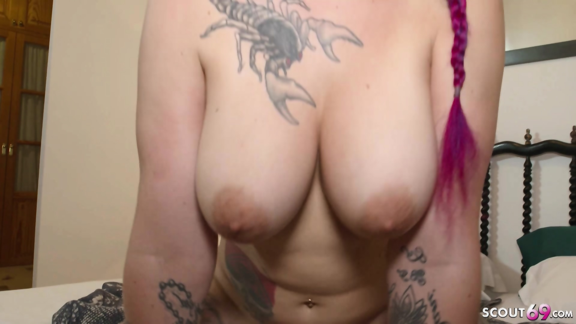 Tattooed German BBW gets fucked