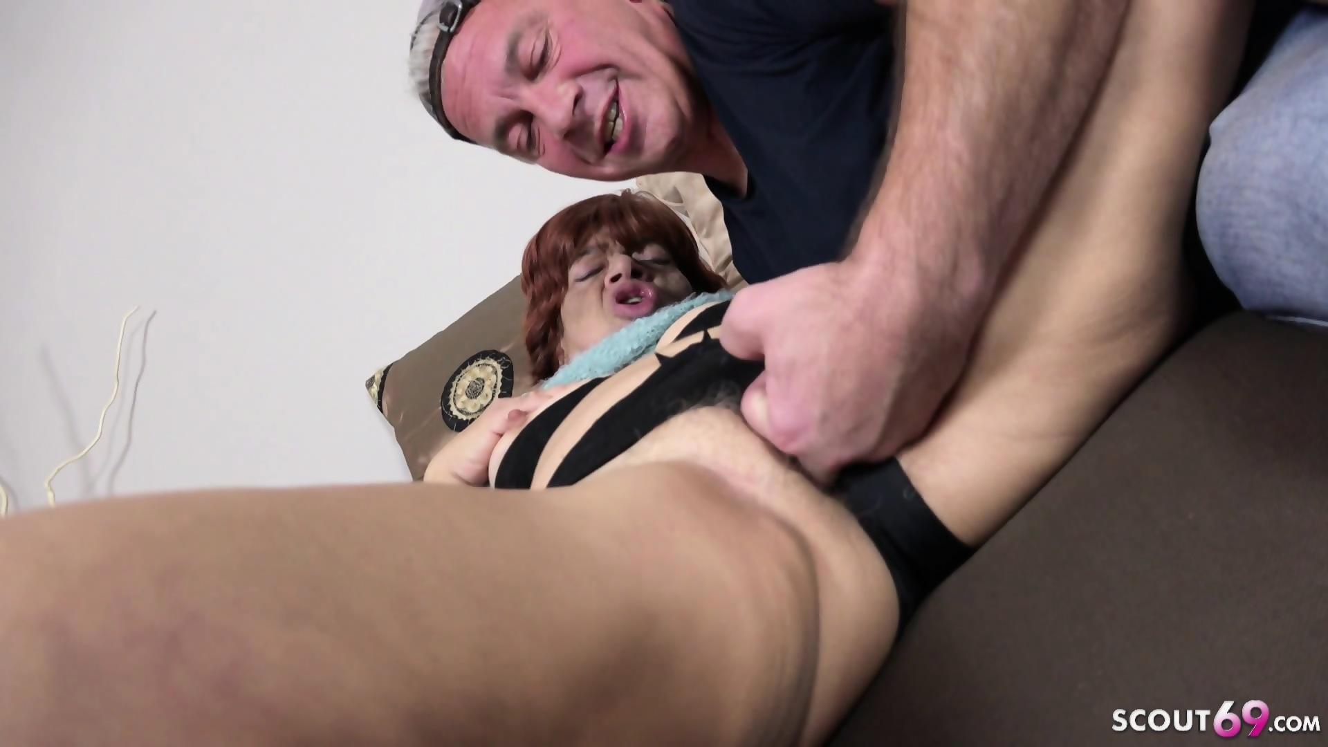 Hot chick with big dildo