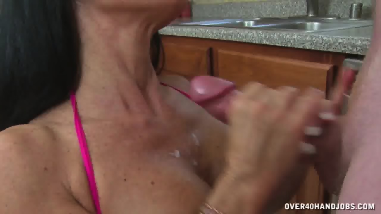 Excellent handjob in kitchen xxvideos