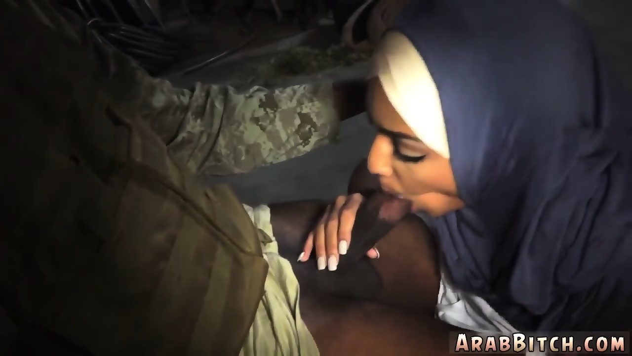 Arab stroking outside
