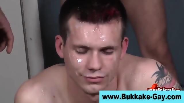 Bukkake amateur boys fuck hard