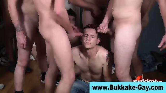 Hard amateur gay fuck bukkake