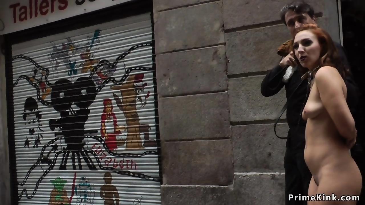 Naked Spanish slave disgraced in street - scene 2