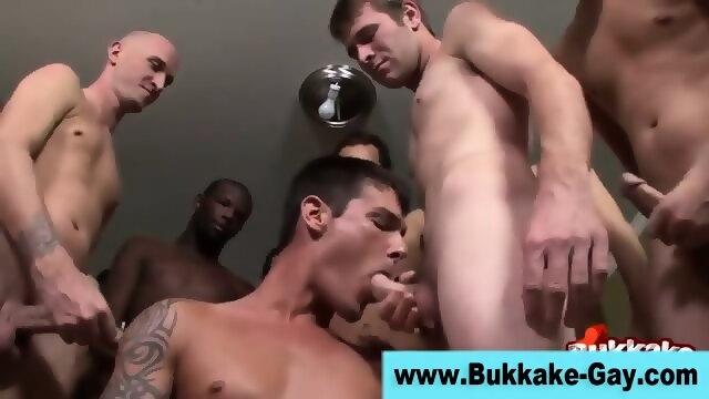 Group Gay Dude Gets Bukkaked