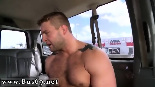 Hunky blonde gay sucks cock